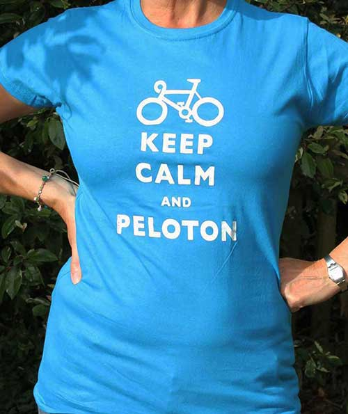 Keep Calm And Peloton Blue