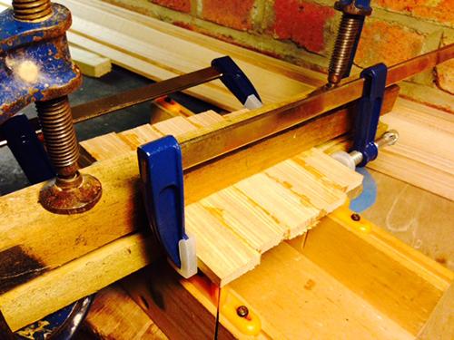 Snowboard-build-glue-trial
